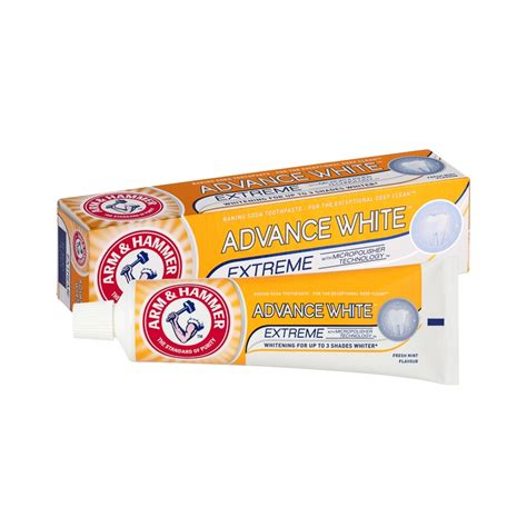 arm hammer advance white toothpaste ml dental care bm