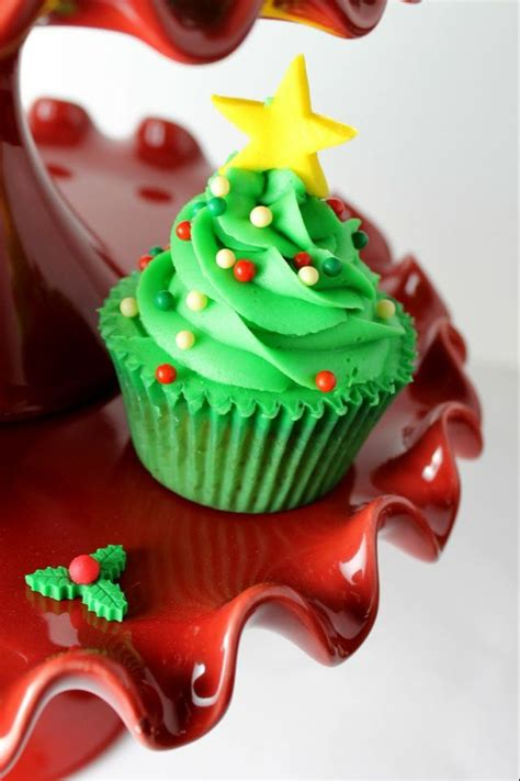cupcake quot christmas tree quot cakes pinterest