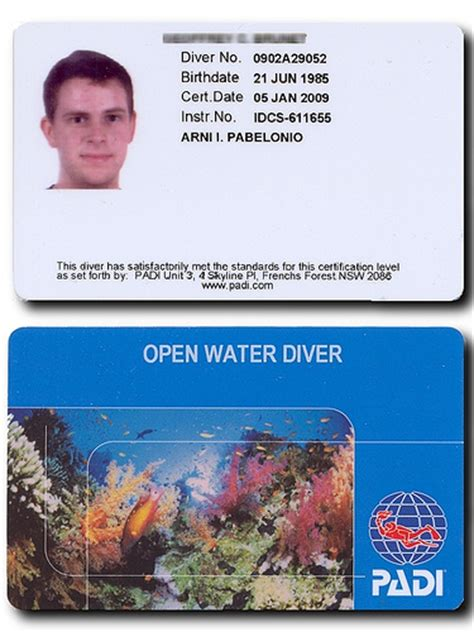 dive card padi certification open water diver flickr photo