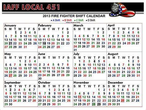 riverside fire department shift calendar template calendar design
