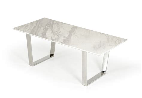 Natural White Marble Top And Chrome Legs Dining Table White Marble Top Dining Table
