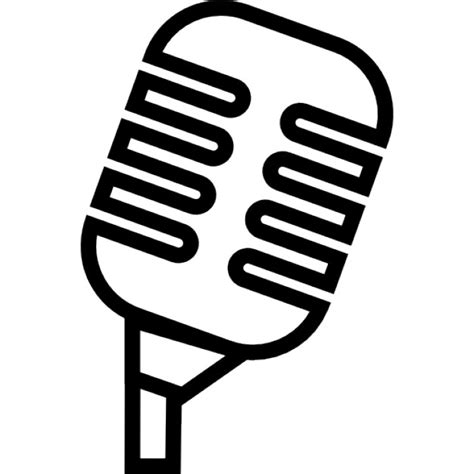 microphone template professional condenser microphone outline icons free