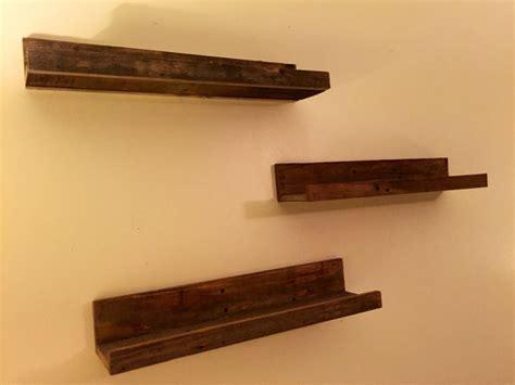 hanging wood floating shelves wall shelves set of three