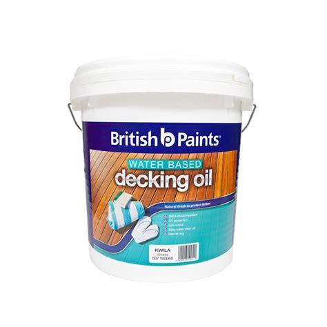 british paints decking oil water based  kwila