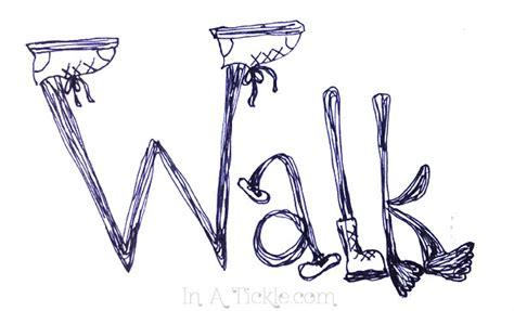 doodlebug walking word doodles in a tickle