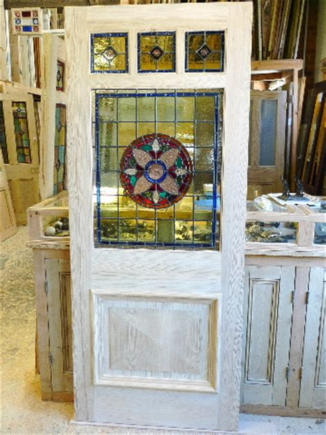 The Stained Glass Door Company Three One Panel Stained Glass Front Door Stained Glass Doors Company