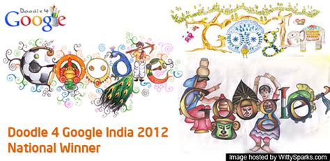 doodle 4 india competition doodle 4 india 2012 winners announced wittysparks