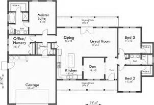 Great Room House Plans One Story by Single Level House Plans One Story House Plans Great