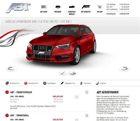 Auto Tieferlegen Eintragen Kosten by Vom Auto Zum Abt In Wenigen Klicks Der Neue Online
