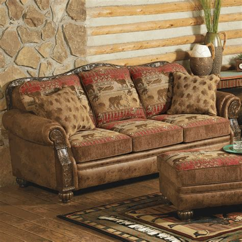cabin sofa pine lodge sofa