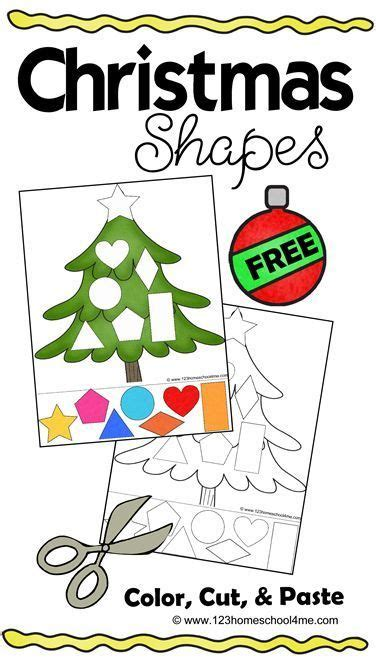 free printable holiday shapes free christmas shapes printable shapes worksheets kids