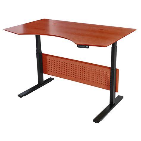 Sit Stand Adjustable Desk Sit Stand Modern 63x39 Adjustable Cherry Desk Eurway