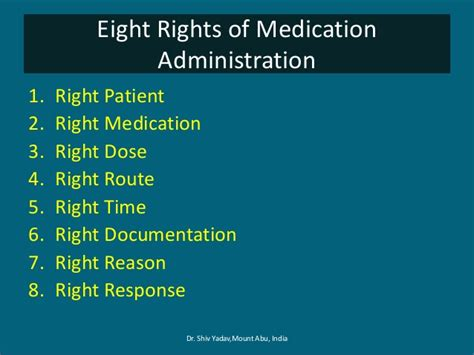 8 Reasons To Avoid Medication by Medication Administration Eight Rights Of Medication