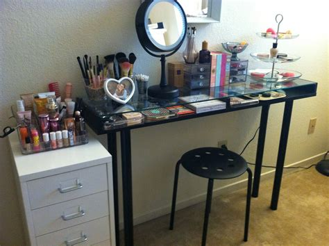 desk to vanity diy diy makeup vanity brilliant setup for your room