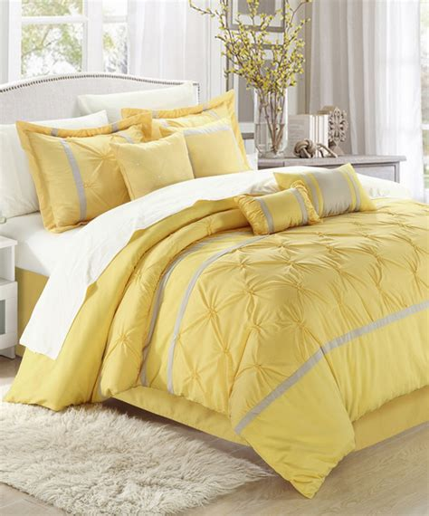comforter yellow yellow vermont embroidered comforter set modern
