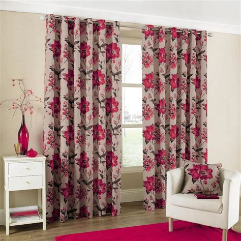modern floral curtains tokyo modern floral heavy cotton eyelet ring top lined
