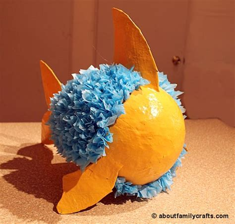 How To Make A Pinata With Tissue Paper - make a paper mache pinata fish about family crafts