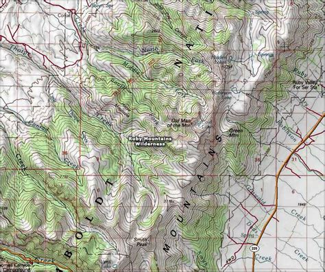 nevada mountains map ruby mountains wilderness