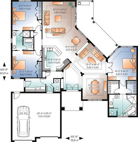 Mediterranean Bungalow House Plans by Mediterranean Bungalow House Plans Home Design Dd 3258