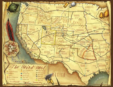map of of arizona cus the magical west of deadlands reloaded