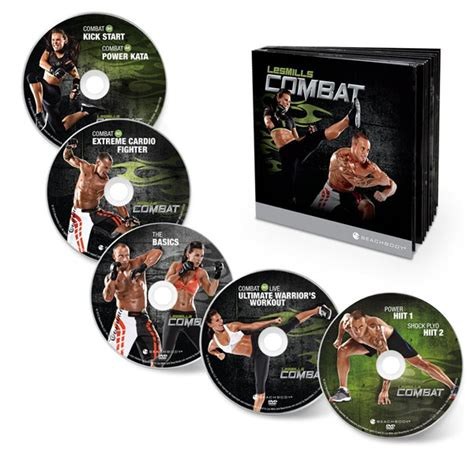 les mills combat dvd workout exercise and