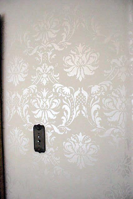 damask wall on pinterest wall painting stencils damask