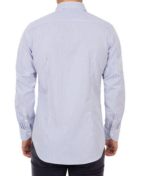 Fit Stripe Shirt canali slim fit impeccabile cotton stripe shirt blue hos