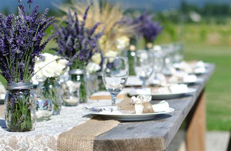 Outdoor Wedding Reception Centerpieces Mason Jars Purple Lavender Centerpieces For Weddings