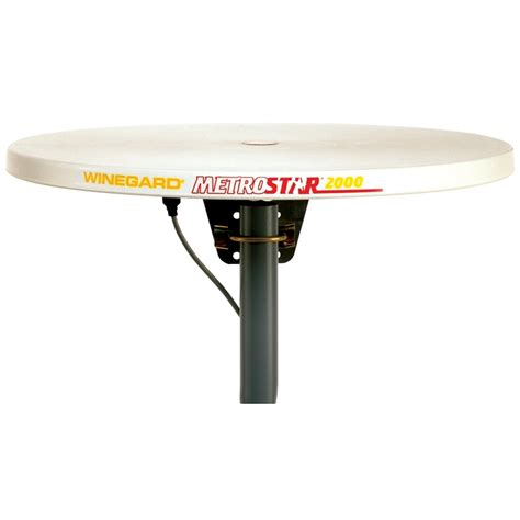 winegard ms 2000 metrostar r 360hd tv antenna with cable