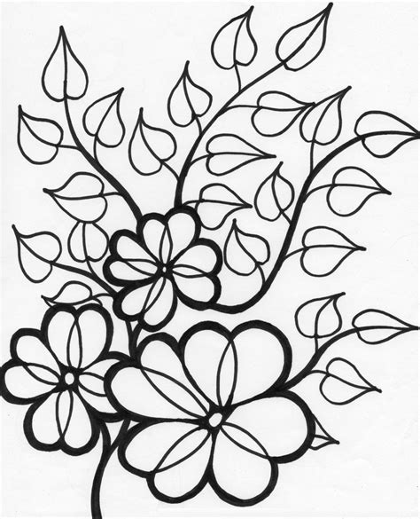 Summer Flowers Printable Coloring Pages Free Large Images Flower Coloring Pages Free