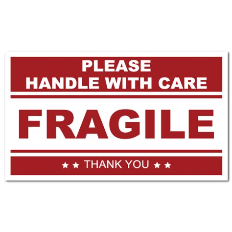 printable warning stickers fragile handle with care stickers