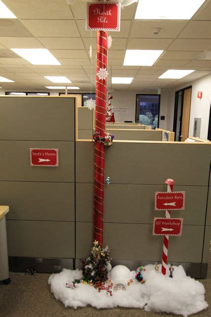 office christmas pole decorating contest office