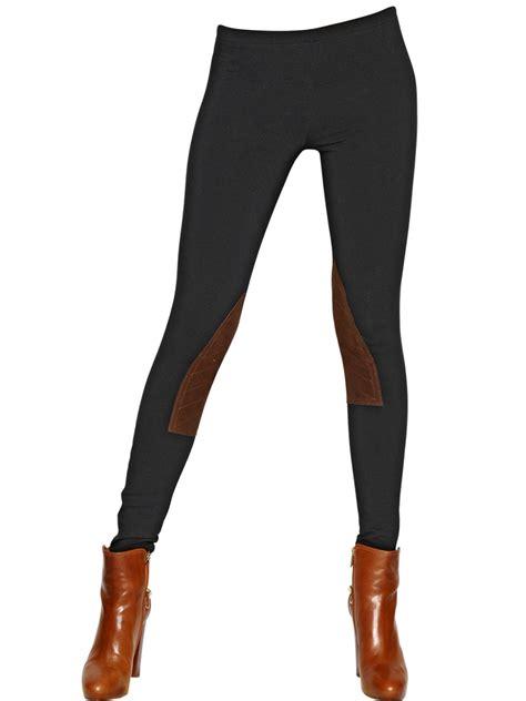 Legging Polos T3009 1 lyst polo ralph jodhpur cotton jersey leather in black