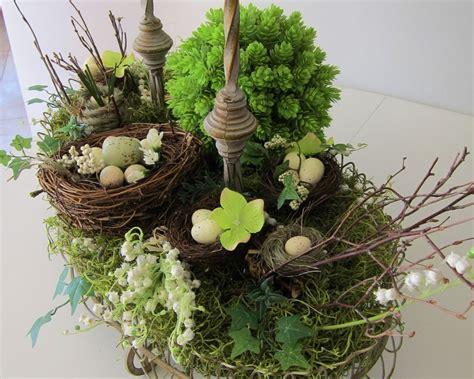 my bird nest centerpiece for spring