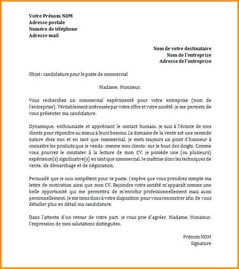 Exemple Cv Emploi by Lettre De Motivation Modele Pour Emploi Codesducambresis