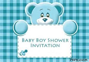 baby boy shower invitation on pepe