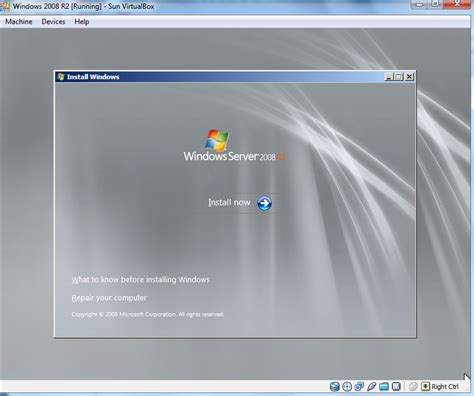 installing xp on windows server 2008 r2 install windows server 2008 r2 on virtualbox