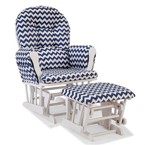 navy glider and ottoman storkcraft hoop custom glider and ottoman in white and