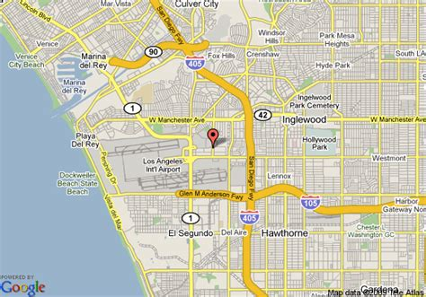 map of los angeles hotels map of renaissance montura hotel los angeles airport los