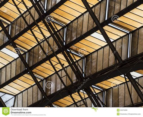ceiling support beams abstract of angled ceiling with support beams stock photo