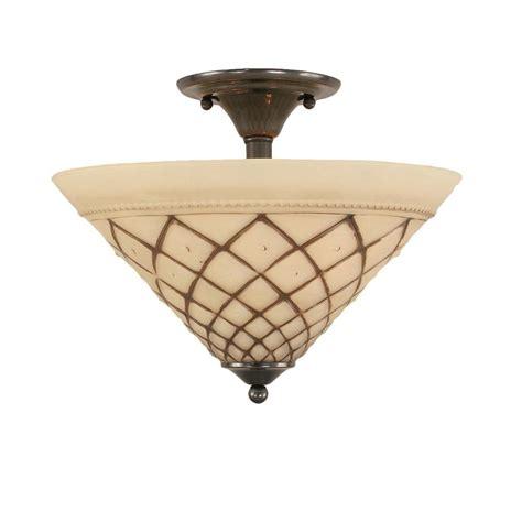 Black Semi Flush Mount Ceiling Light Filament Design Concord 2 Light Black Copper Incandescent Ceiling Semi Flush Mount Light Cli