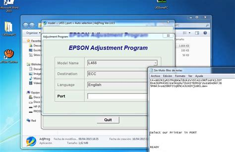 reset epson printer to default reset epson l455 youtube