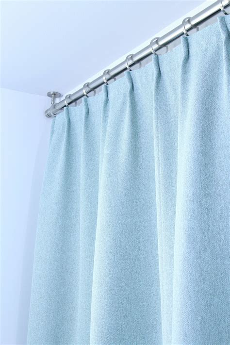 Shower Curtains Rods Bathroom Update Ceiling Mounted Shower Curtain Rod Turquoise Tweed Pleated Shower Curtain