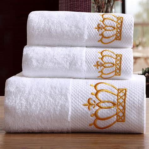 crown craft bathroom set sunnyrain 3 pieces embroidered crown white hotel towel set