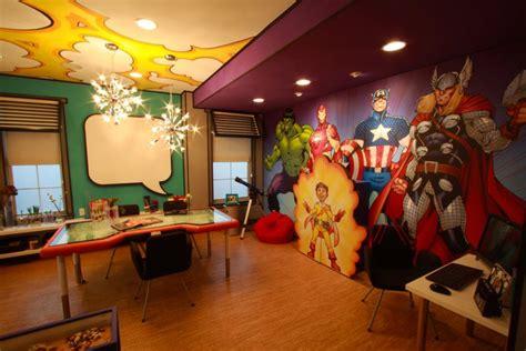 comic book themed living room cool rooms nerdiest geektastic rooms