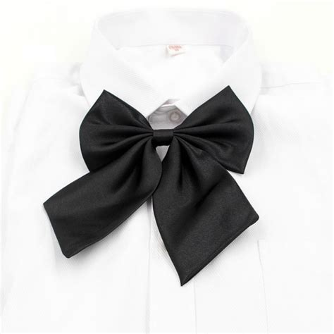 pattern shirt with bow tie vintage women lady 7 butterfly pattern bow tie party