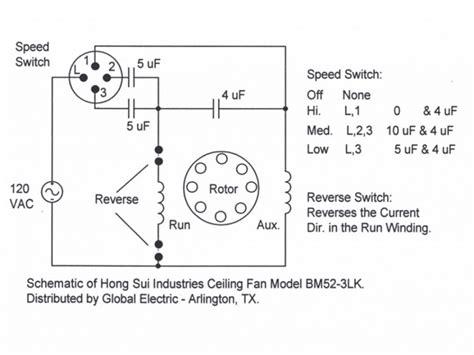 ceiling fan internal wiring diagram in hunter ceiling fan