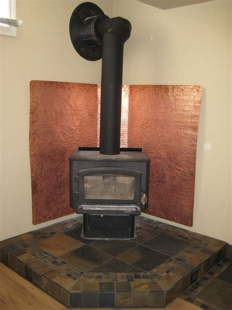 Fireplace Heat Shield Wall by He Collected Tiles From A Few Tile Stores With A Blue