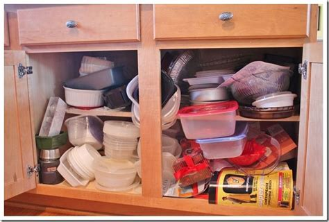 kitchen cupboard organization ideas plastic ware cabinet organization hometalk