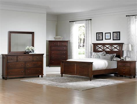 vaughan bedroom furniture vaughan bassett ellington cherry 622 bedroom group